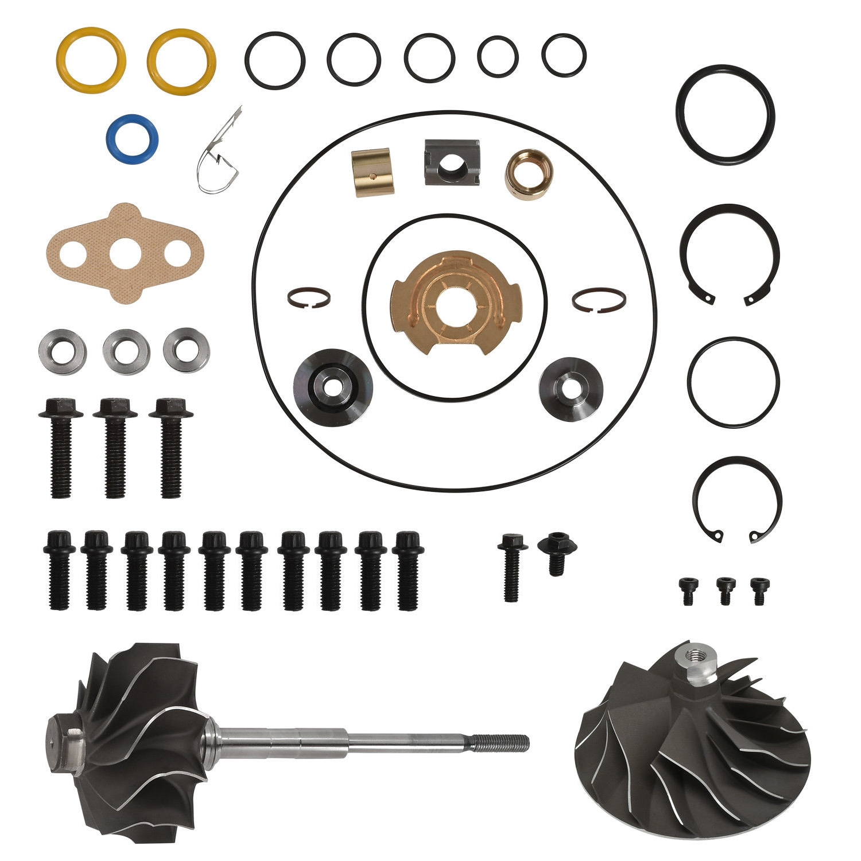 Early 03 Ford 6.0L Powerstroke Billet GT3782 Turbo Compressor Wheel+Rebuild Kit