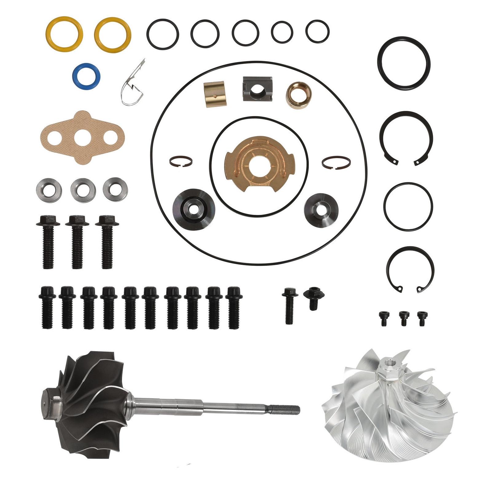 GT3782VA Turbo Rebuild Kit Billet Compressor Wheel Turbine Shaft For 03-Early 04 6.0L Ford Powerstroke Diesel