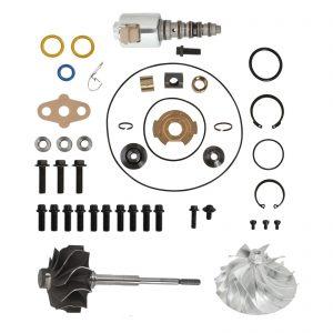 GT3782VA Turbo Rebuild Kit Billet Compressor Wheel Turbine Shaft VGT Solenoid For 05.5-10 6.0L Ford Powerstroke Diesel