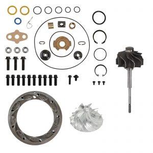 GT3782VA Turbo Rebuild Kit Billet Compressor Wheel Turbine Shaft Unison Ring 13.2mm Vanes For 05.5-10 6.0L Ford Powerstroke Diesel