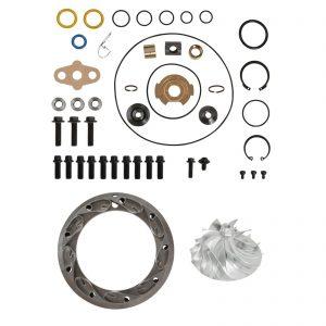 GT3782VA Turbo Rebuild Kit Billet Compressor Wheel Unison Ring 13.2mm Vanes For 04.5-Early 05 6.0L Ford Powerstroke Diesel