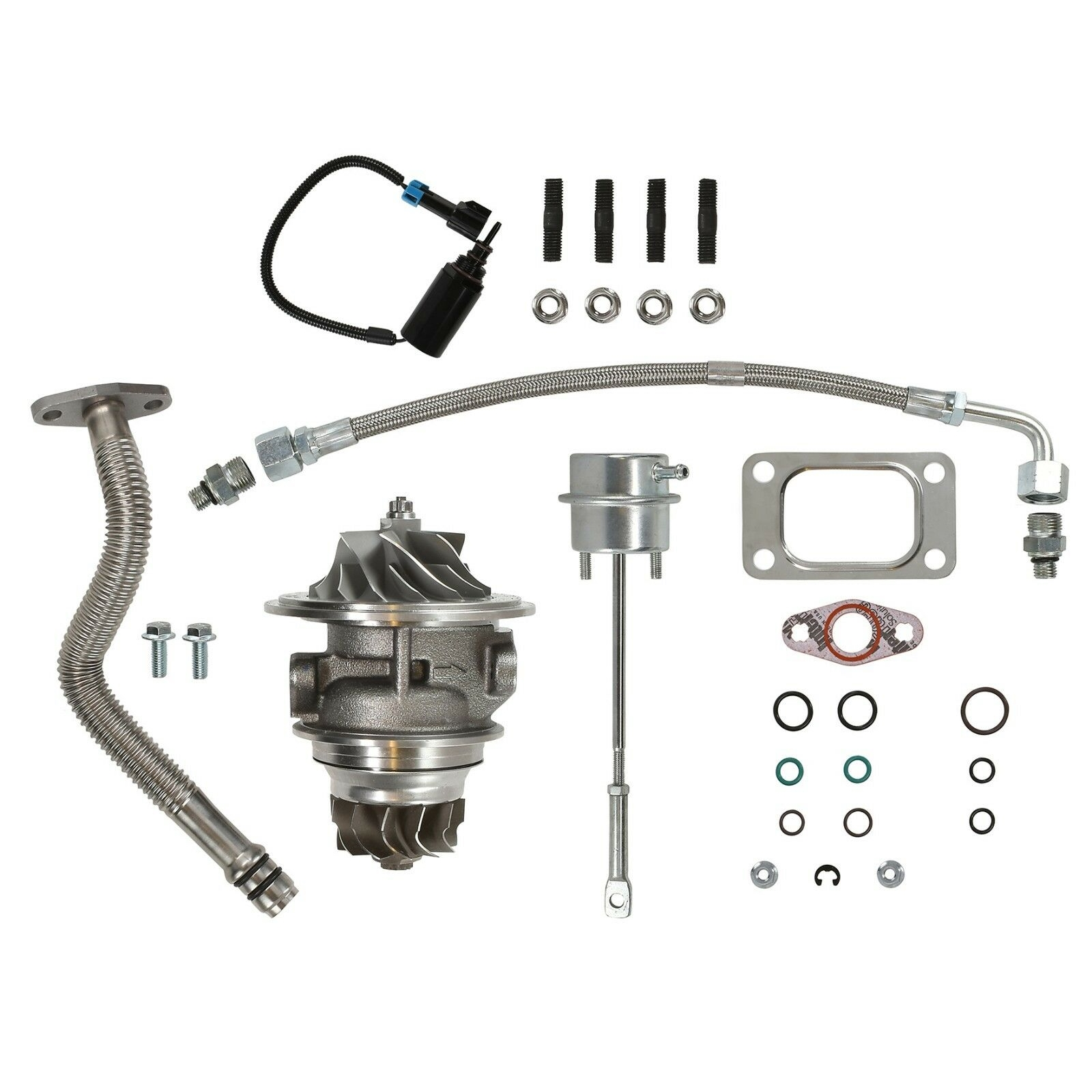 HE351CW Master Turbo Rebuild Kit Cast CHRA For 04.5-07 5.9L ISB Dodge Ram Cummins Diesel