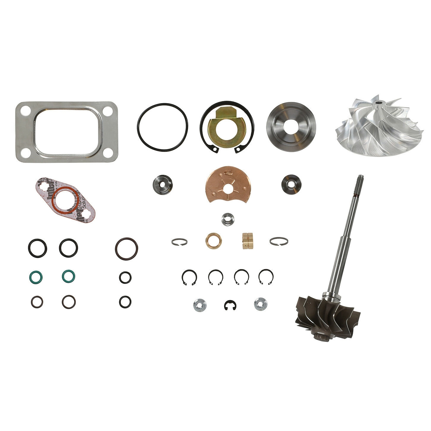HE351CW Turbo Rebuild Kit Billet Wheel Turbine Shaft For 04.5-07 5.9L ISB Dodge Ram Cummins Diesel