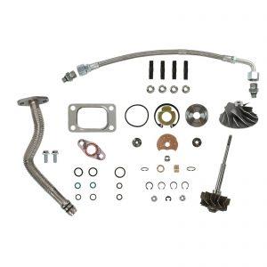 HE351CW Turbo Rebuild Kit Cast Wheel Turbine Shaft Oil Lines For 04.5-07 5.9L ISB Dodge Ram Cummins Diesel