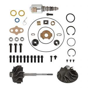 GT3782VA Turbo Rebuild Kit Cast Compressor Wheel Turbine Shaft VGT Solenoid For 03-Early 04 6.0L Ford Powerstroke Diesel