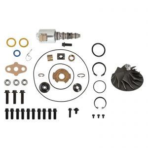 GT3782VA Turbo Rebuild Kit Cast Compressor Wheel VGT Solenoid For 03-Early 04 6.0L Ford Powerstroke Diesel