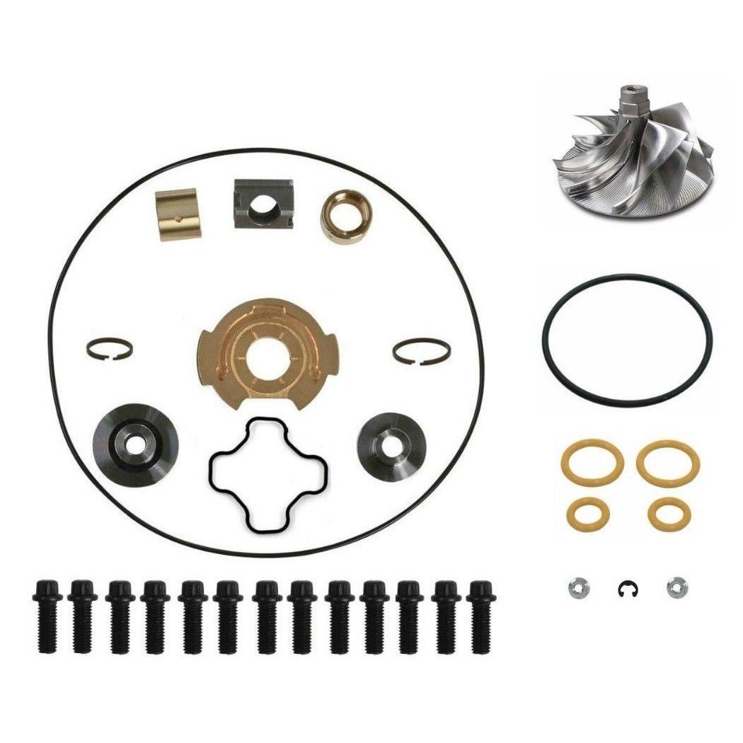 GTP38 Turbo Rebuild Kit Billet Compressor Wheel For 99-03 7.3L Ford Powerstroke Diesel