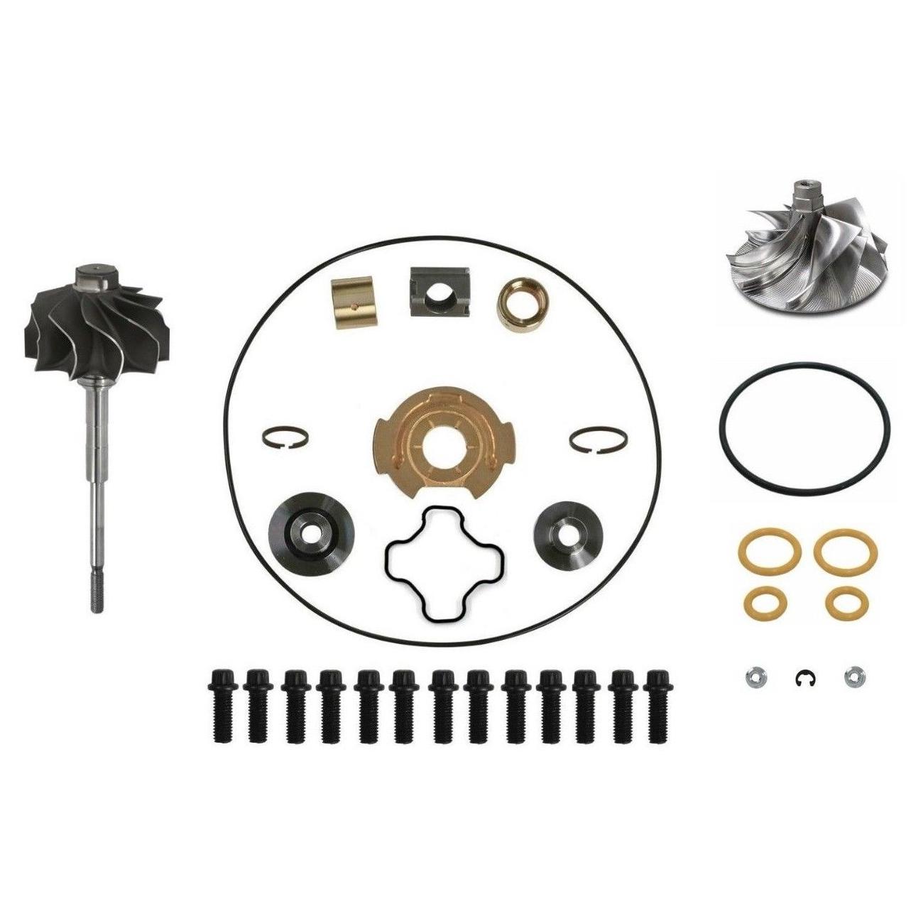 GTP38 Turbo Rebuild Kit Billet Compressor Wheel Turbine Shaft For 99-03 7.3L Ford Powerstroke Diesel