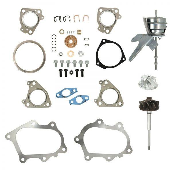 IHI RHG6 Master Turbo Rebuild Kit Billet Compressor Wheel For 01-04 6.6L LB7 Chevy GMC Duramax Diesel