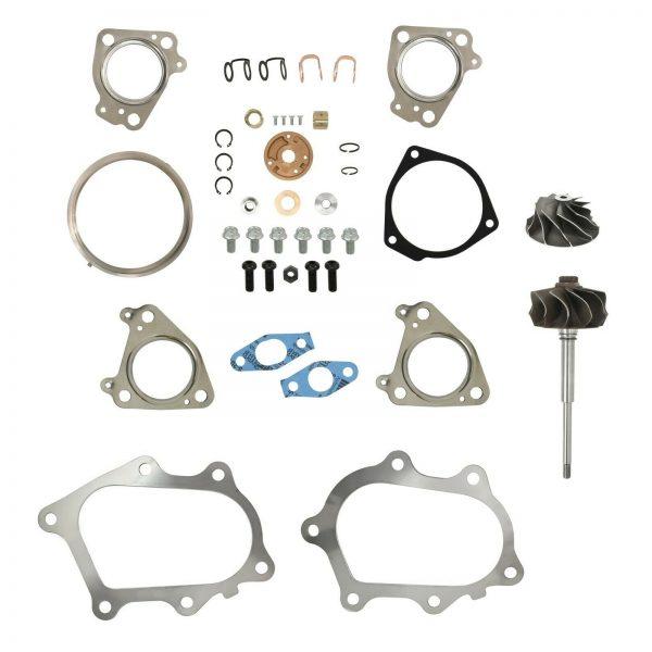 IHI RHG6 Turbo Rebuild Kit Cast Compressor Wheel Turbine Shaft For 01-04 6.6L LB7 Chevy GMC Duramax Diesel