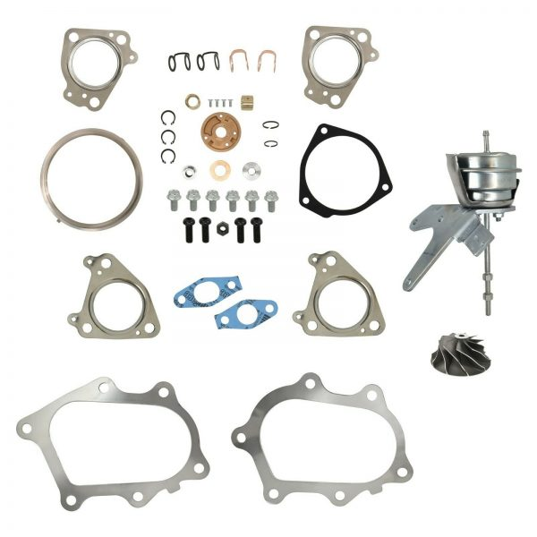 IHI RHG6 Turbo Rebuild Kit Cast Compressor Wheel Wastegate Actuator For 01-04 6.6L LB7 Chevy GMC Duramax Diesel