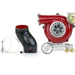 SPOOLOGIC GTP38R Ceramic Ball Bearing Turbocharger Red for 99.5-03 7.3L Powerstroke