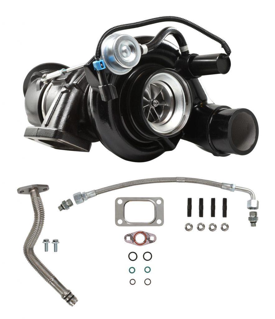 SPOOLOGIC HE351CW Turbocharger with Billet Wheel Black for 04.5-07 5.9L Cummins
