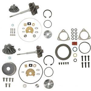 V2S Combo Turbo Rebuild Kit Cast Shaft For 08-10 6.4L Ford Powerstroke Diesel
