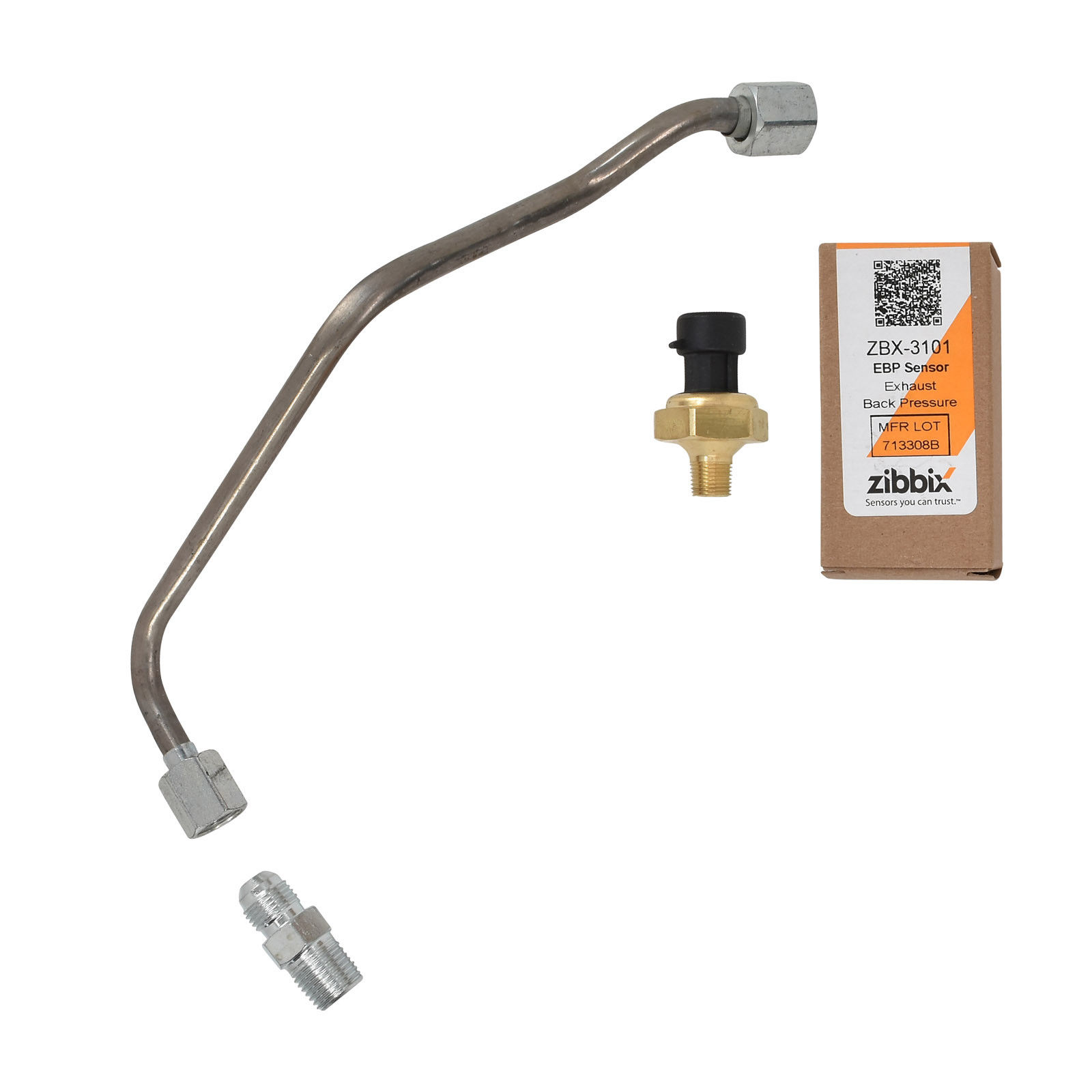 Zibbix ZBX-3101-TK3 EBP Exhaust Back Pressure Sensor Tube Kit For 03-04 6.0L Ford Powerstroke Diesel