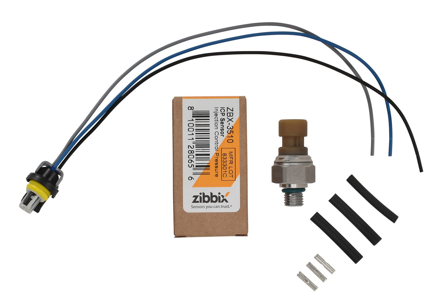 Zibbix ZBX-3510-PK1 ICP Injection Control Pressure Sensor Pigtail Kit For 04-10 6.0L Ford Powerstroke Diesel