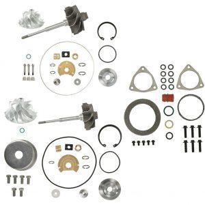 V2S Combo Turbo Rebuild Kit Billet Shaft For 08-10 6.4L Ford Powerstroke Diesel