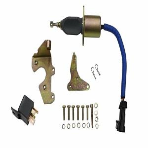 5 9l 3931570 fuel shut off solenoid with bracket + relay for 94-98 dodge  ram cummins diesel