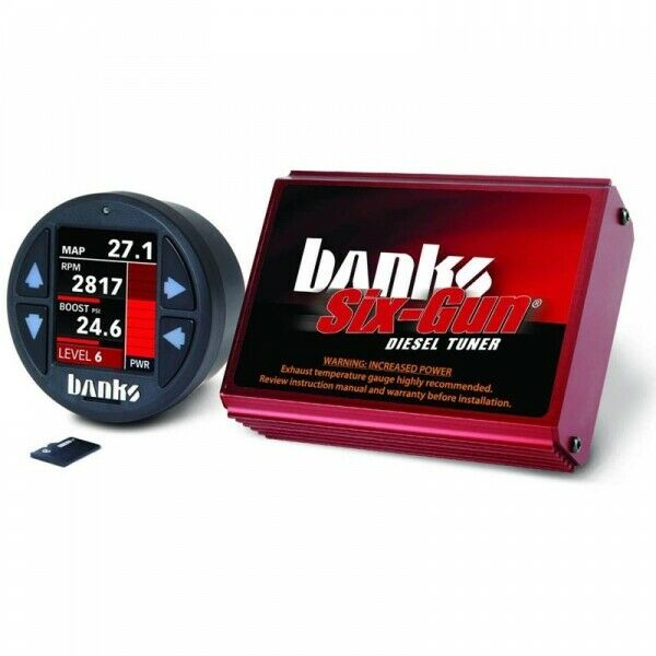 Banks Power BP61450 Six-Gun Diesel Tuner With iDash 1.8 DataMonster for 06-07 5.9L Dodge Ram Cummins ISB