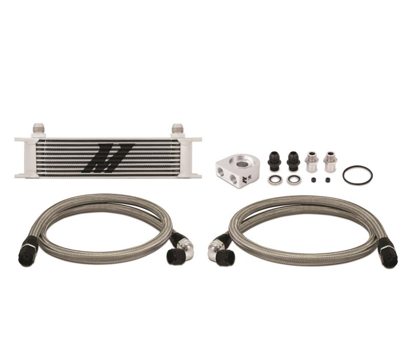 Mishimoto Universal 10-Row Oil Cooler Kit Silver