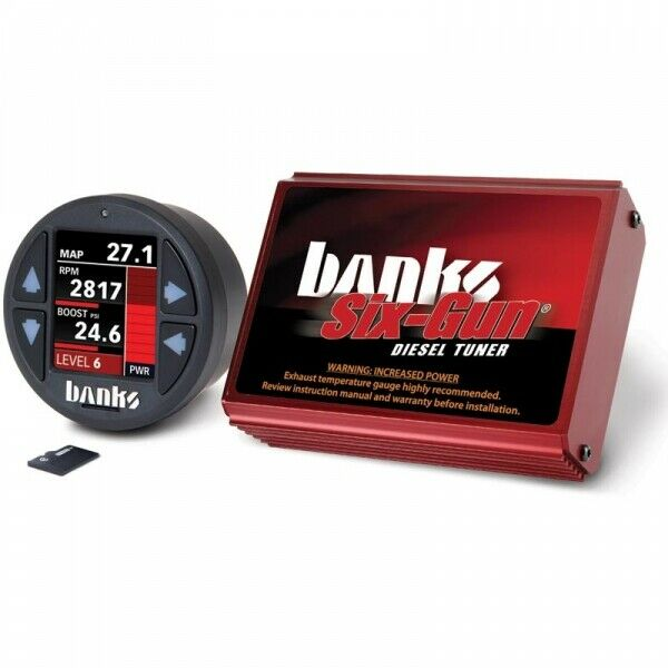 Banks Power BP61448 Six-Gun Tuner With iDash 1.8 DataMonster for 03-05 5.9L Dodge Ram Cummins ISB