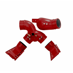 7.3L Intake Manifold Plenums And Spyder Red For 99.5-03 Ford Powerstroke Diesel