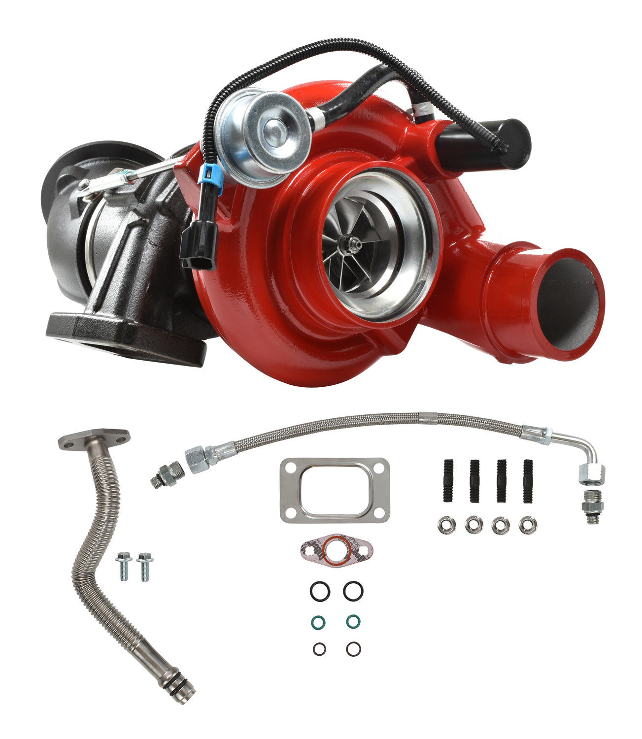 5.9L 04.5-07 Dodge Ram HE351CW Turbocharger With Billet Wheel Red For Cummins