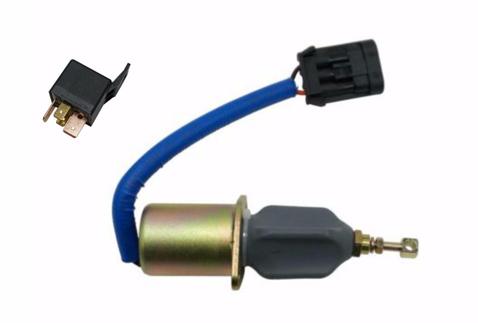 ProSource Diesel Fuel Shut Off Solenoid With Relay For 5.9L 94-98 Cummins 12V