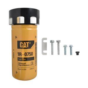 Cat Fuel Filter Adapter Black For 01-16 6.6L LB7 LLY LBZ LMM LML Chevy/GMC Duramax Diesel
