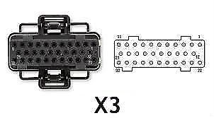 6.0L 03-10 Ford Powerstroke FICM Connector X3